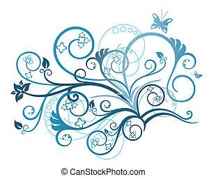 花, トルコ石, デザイン要素