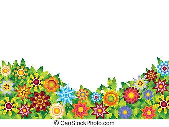 花, ベクトル, 庭