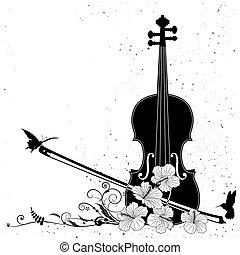 花, ベクトル, 音楽的な 構成