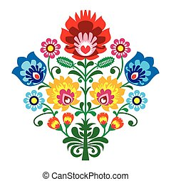 花, 人々, 刺繍