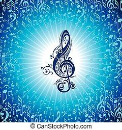 花, 創造的, 音楽, アイコン