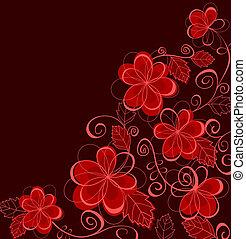 花, 抽象的, 花, 背景