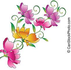 花, 挨拶, 空想, 束