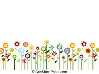 花, 春, ベクトル