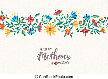 花, 母, 春, 背景 パターン, 日, 幸せ
