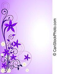 花, 装飾, すみれ