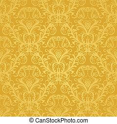 花, 金, 壁紙, 贅沢