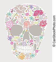 花, 頭骨