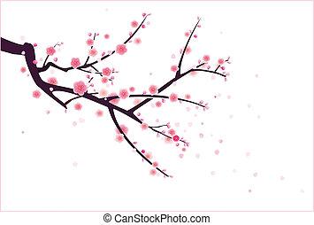 花, plum/cherry