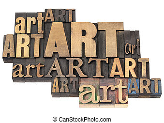 芸術, 抽象的, 木, 単語, タイプ