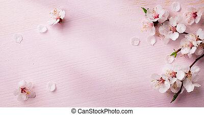 芸術, 春, 背景, フレーム, 花