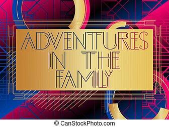 芸術, text., 家族, 冒険, deco