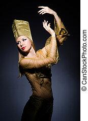 若い, モデル, 擬人化, 美しさ, エジプト人