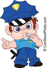 若い, 警官