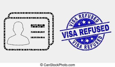 苦脳, 切手, 点, refused, ベクトル, ユーザー, カード, ビザ, アイコン