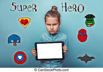 英雄, 力, 写真, selfe, カメラ, クローズアップ, 保有物の赤ん坊, 女の子, 極度