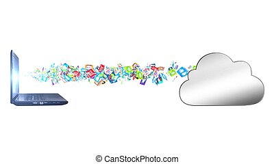 荷を積まれる, データ, 雲