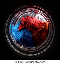荷を積みなさい, 洗濯物