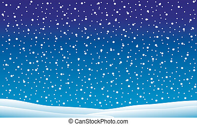 落ちる, 冬の景色, 雪