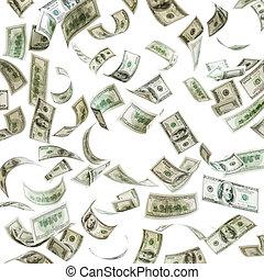 落ちる, 百ドル, お金, ビルズ