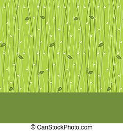 葉, カード, パターン, seamless, デザイン
