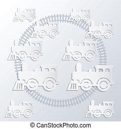 蒸気, locomotives.