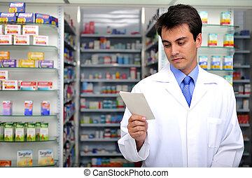 薬剤師, 読書, 処方せん, 薬局