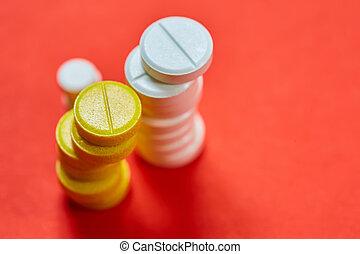薬, シンボル。, tablets.