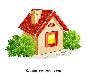 薮, 家, わずかしか, 緑, 私用