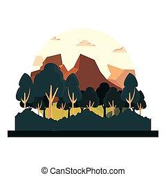 薮, 山, 自然, 木, 群葉, 風景