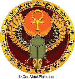 虫, 神聖, エジプト人