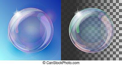 虹の色, 泡, 石鹸, 現実的