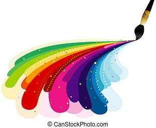 虹の色, 絵