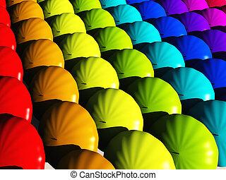 虹, 傘, hues