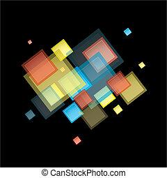 虹, 抽象的, 広場