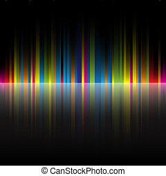 虹, 抽象的, 黒, 色, 背景