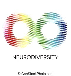 虹, loop., 無限点, neurodiversity, シンボル。