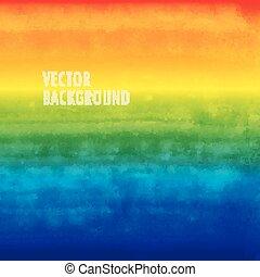 虹, texture., 水彩画, ブラシをかけられる, ベクトル, バックグラウンド。, インク
