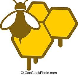 蜂蜜, アイコン, すてきである, 自然