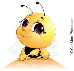 蜂, スプーン, 座る
