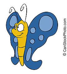 蝶, かわいい, 漫画