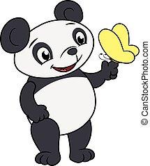 蝶, わずかしか, 2, パンダ