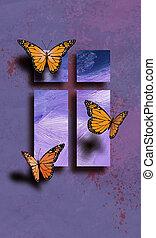 蝶, イースター, 交差点