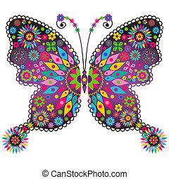 蝶, ファンタジー, 鮮やか, 型