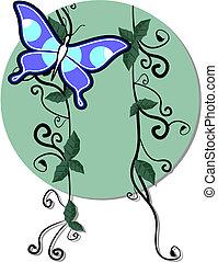 蝶, 自然