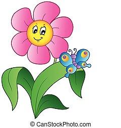蝶, 花, 漫画