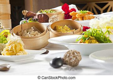 融合, アジア人, 皿