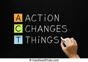 行動, もの, 変化する, 頭字語