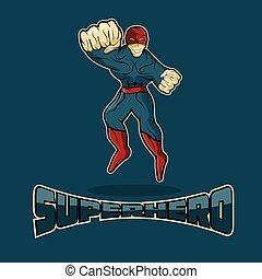 行動, デザイン, ベクトル, superhero, テンプレート