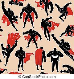 行動, パターン, superhero, seamless